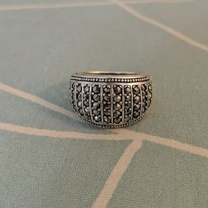 Sterling Silver Cocktail Ring Size 8